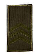 Погон хаки на липучке сержант