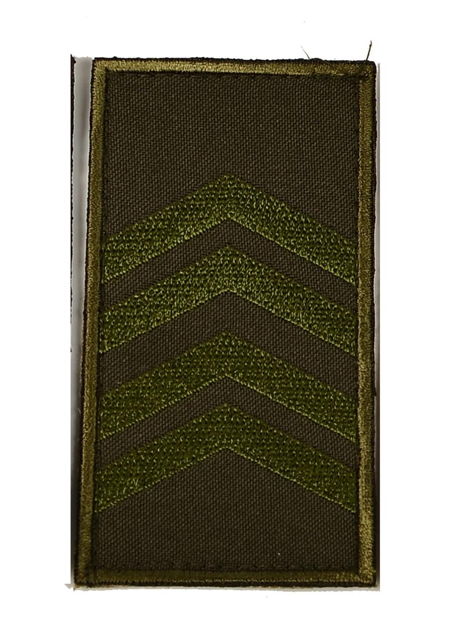 Погон хаки на липучке старший сержант (старый образец)