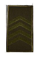 Погон хаки на липучке старший сержант