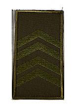 Погон хакі на липучці старший сержант (старий зразок)