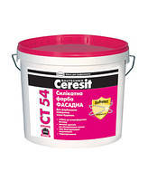 Краска силикатная фасадная Ceresit CT 54 база 10л