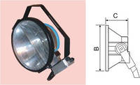 Прожектор Round ГО 2000W под лампу МГЛ 2000Вт  SPEC(Китай)