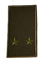 Погон хаки на липучке  лейтенант