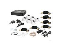 Комплект видеонаблюдения Tecsar 6OUT-DOME