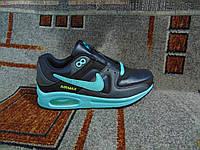 Женские повседневные кроссовки  Air Max черные с бирюзовым, фото 1