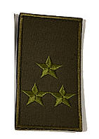Погон  полковник НГУ хаки  на липучке