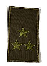 Погон хаки на липучке полковник (старый образец)