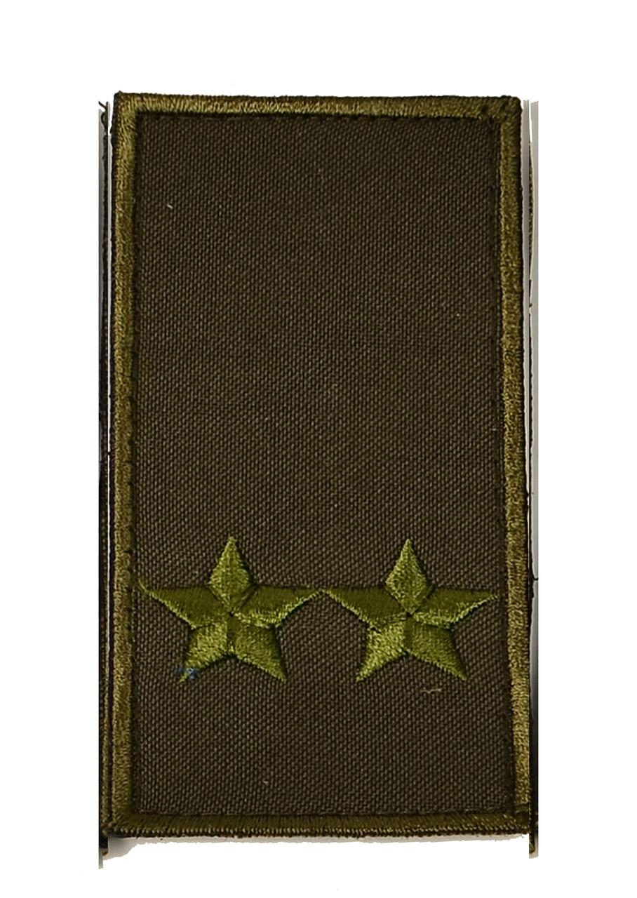 Погон хаки на липучке подполковник (старый образец)