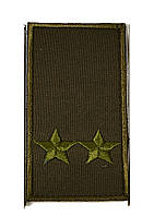 Погон хаки на липучке подполковник