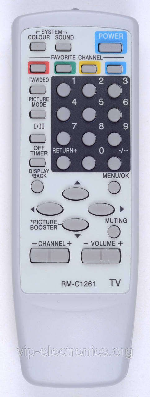 Пульт JVC RM-C1261 (TV) (CE)