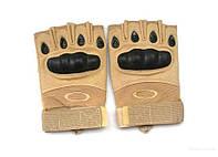 Тактические беспалые перчатки Oakley (реплика) , тан