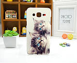 Чехол для Samsung Galaxy Star Advance G350 панель накладка с рисунком девушка, фото 3