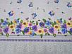 """Ткань для пошива скатертей рогожка Анютины глазки / """"Чарівна Ніч"""", фото 4"""