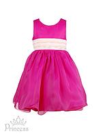 Малиновое детское праздничное платье для девочек
