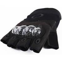 Тактические беспалые перчатки Oakley (реплика) Размер L,черные