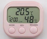 Термометр-гигрометр с часами, календарем и будильником