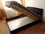 """Двуспальная кровать """"Селена Аури"""" из бука (щит, массив) с подъемным механизмом, фото 4"""