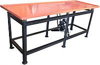 Вибростол для производства тротуарной плитки и заборов 1,5м. х 0,75м. (ЭВ-320-220В)