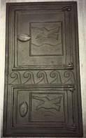 Дверца спаренная чугунная (топочная + поддувальная)