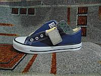 Женские кеды Converse All Star оригинал синие с белым 36-41