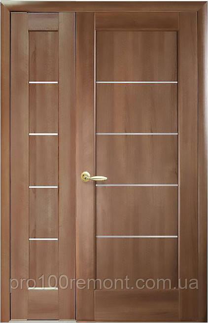Комплект дверей двустворчатых Мира с сатином от Новый стиль (венге new, зол.ольха, каштан, ясень, grey)