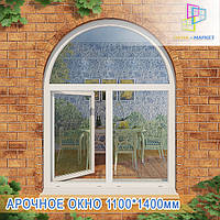 Двустворчатые окна с аркой Ирпень , фото 1
