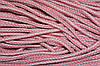 Шнур акрил 6мм. (100м) коралл+св.серый