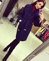 """Женское классическое пальто с поясом """"Chanel"""""""