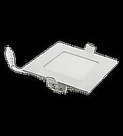 Врезной светодиодный светильник 6W квадрат 3000К Z-light