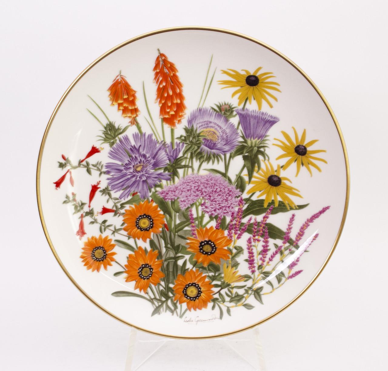 Тарелка коллекционная FRANKLIN PORCELAIN фарфор Англия, сентябрь