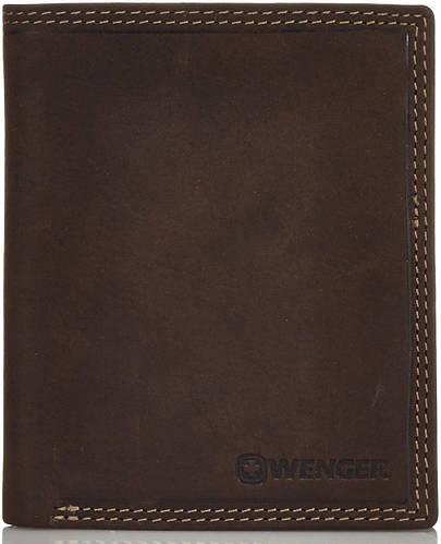 Красивое мужское портмоне  из натуральной кожи Wenger W5-02DB-brown (коричневый)