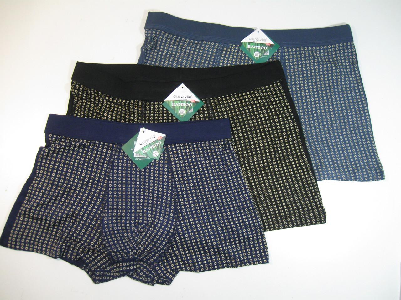 Трусы мужские боксеры AURA.VIA (бамбук), размеры  M(4), L(4),   арт. FR 7363