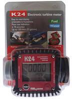 К24, 7-120 л/хв, +/-1%, Електронний лічильник для дизельного палива, бензину, масла, Італія