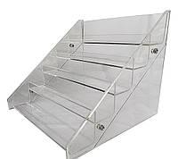 Прозрачная акриловая подставка для демонстрации лаков на 5 полок