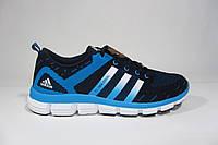 Мужские кроссовки Adidas ClimaCool, текстиль, голубые с черным, Р. 44
