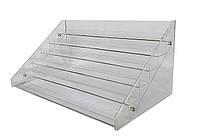 Прозрачная акриловая подставка для демонстрации лаков на 6 полок