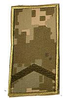 Погоны пиксель  на липучке  (  старший солдат)
