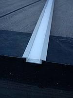 Комплект: профиль врезной и матовая линза рассеивающая плоская, фото 1