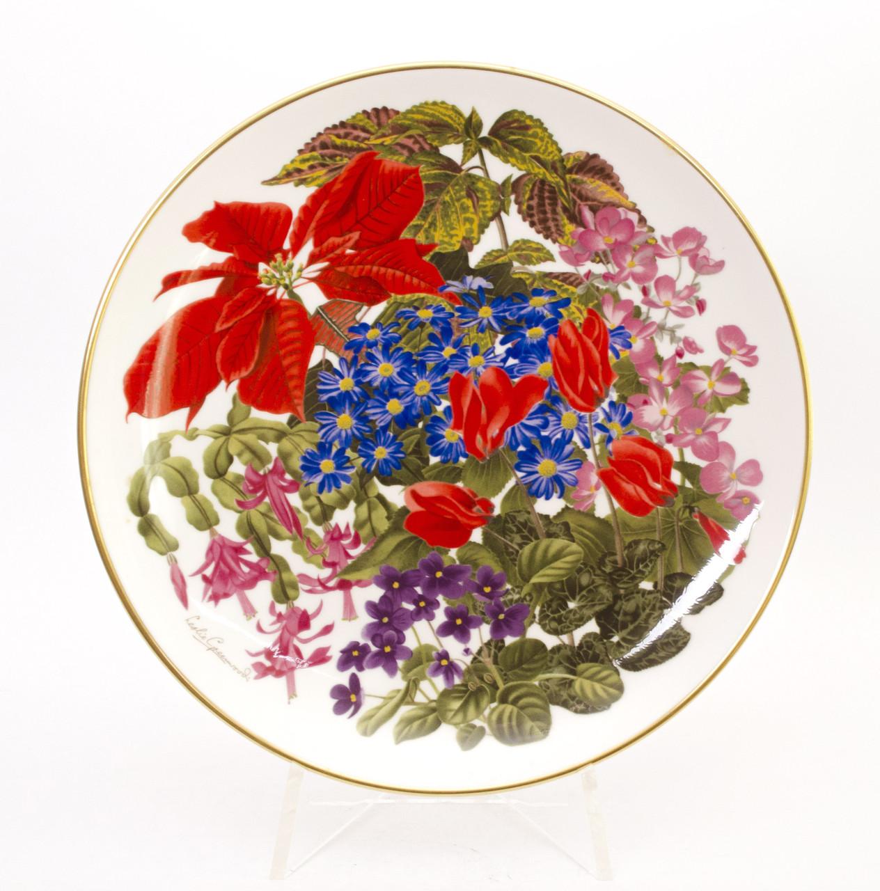 Тарелка коллекционная FRANKLIN PORCELAIN фарфор Англия, декабрь