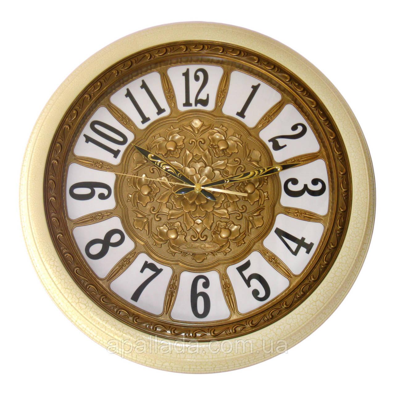 Годинник настінний коричневий 51 см