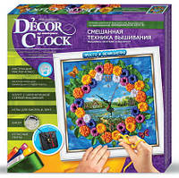 Decor Clock Вышивка Лентами и Бисером (часы своими руками)