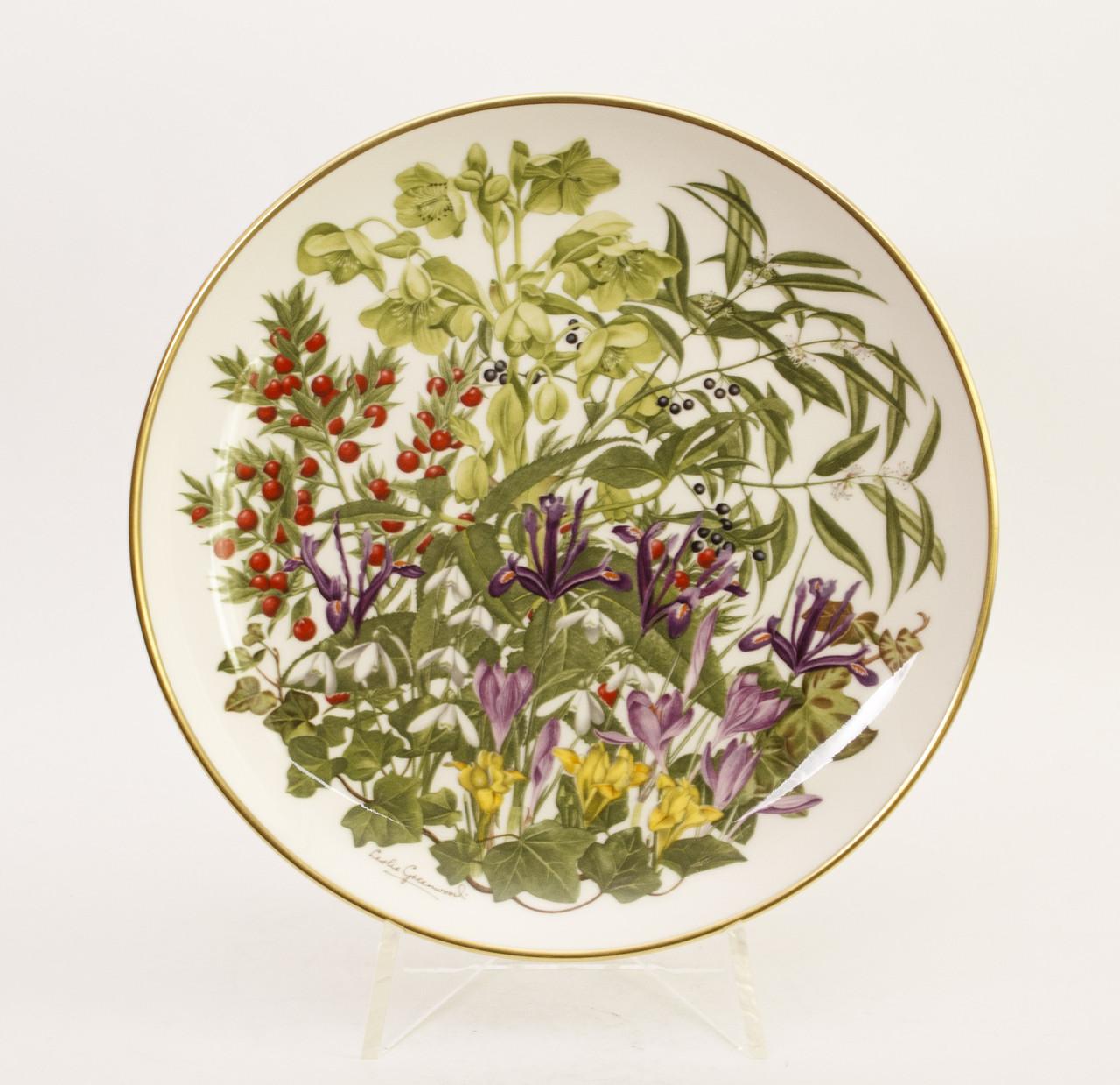 Тарелка коллекционная FRANKLIN PORCELAIN фарфор Англия, февраль