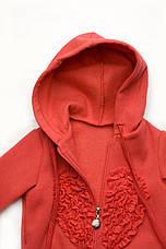Утеплённый спортивный костюм для девочки р.98-116см, фото 2