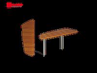 Приставной стол на двух металлических опорах