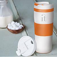 Термокружка вакуумная, герметичная, под гравировку логотипа или цветную печать