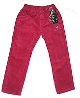 Вельветовые брюки на флисе для девочки размер: 110