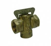 Кран газовый пробковый, муфтовый 11б34бк Д15