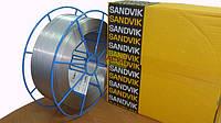 Сварочная проволока 308LSi диаметр 1,2 (W19.9.LSI-1.20-LW15K по Sandvik ) на железных катушках по 15кг.