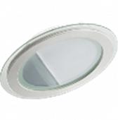 Светодиодный светильник круглый врезной со стеклом 6 Вт 4000К LEDEX Premium для подвесных потолков