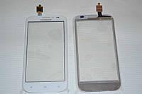 Тачскрин / сенсор (сенсорное стекло) для FLY IQ4404 Spark (белый цвет) + СКОТЧ В ПОДАРОК